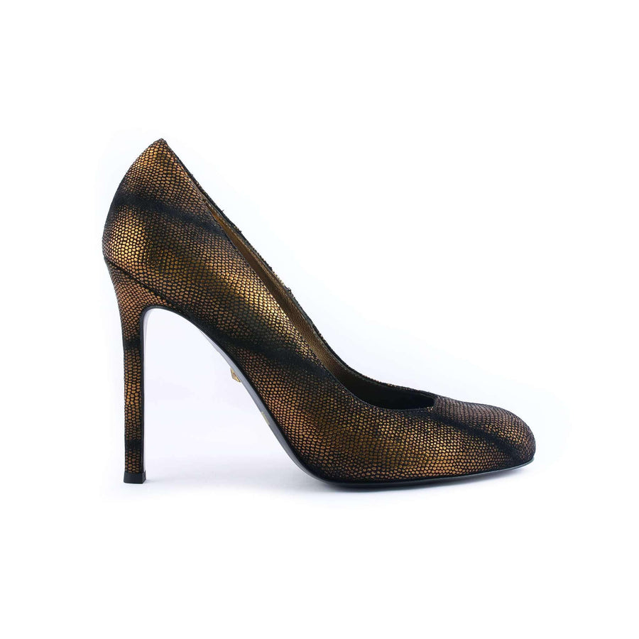 Bronze Leather Pump