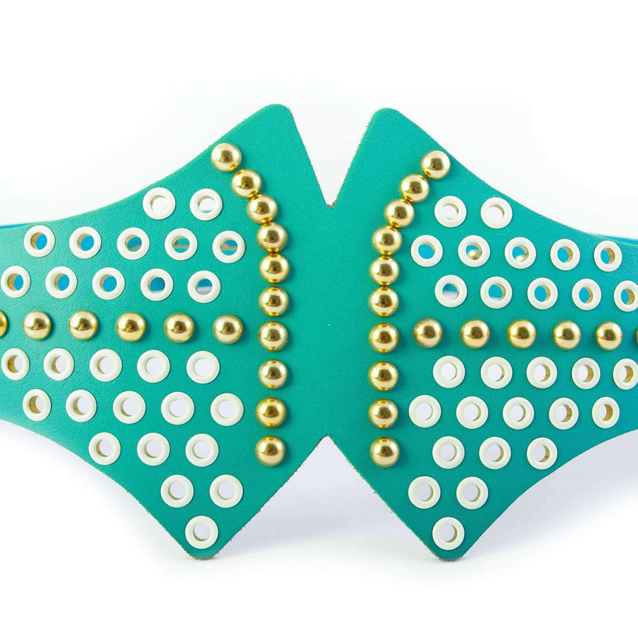 Studded and Eyelet Detail Belt