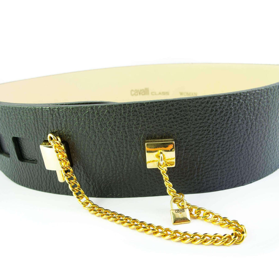Black Leather Waist Belt