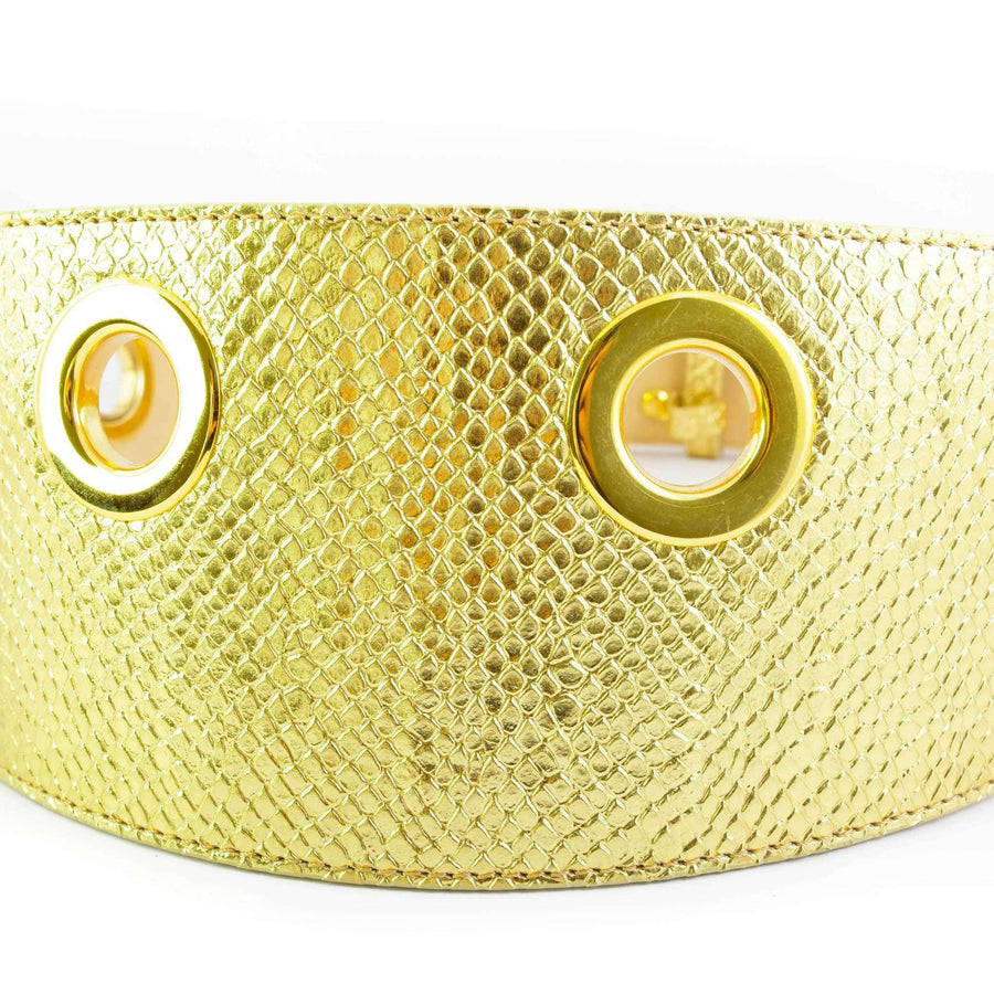 Snakeskin Effect Leather Belt