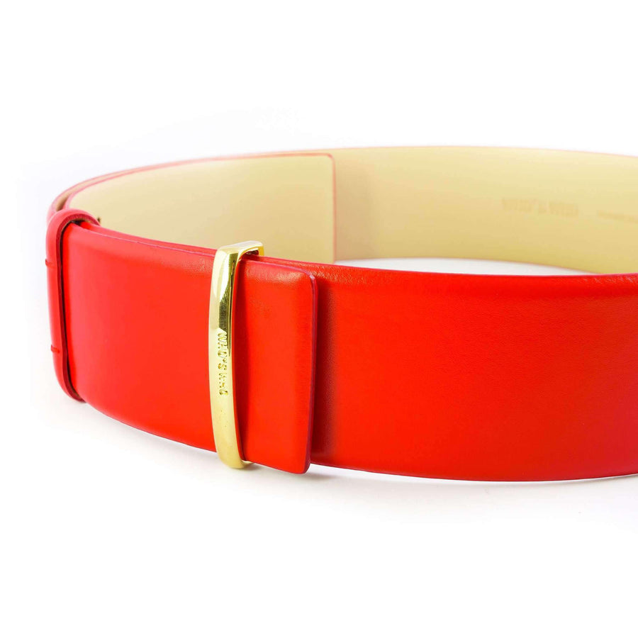 Glossed Leather Belt