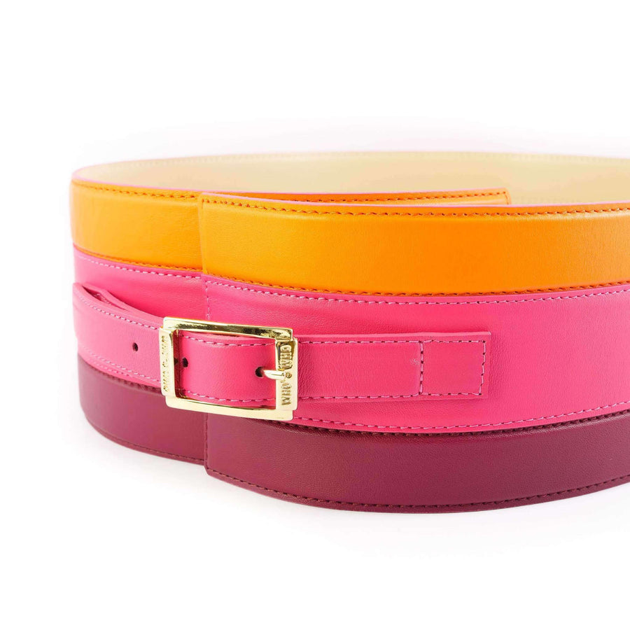 Multi-Colored Striped Belt