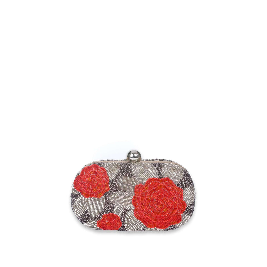 Handmade Flower Beaded Clutch