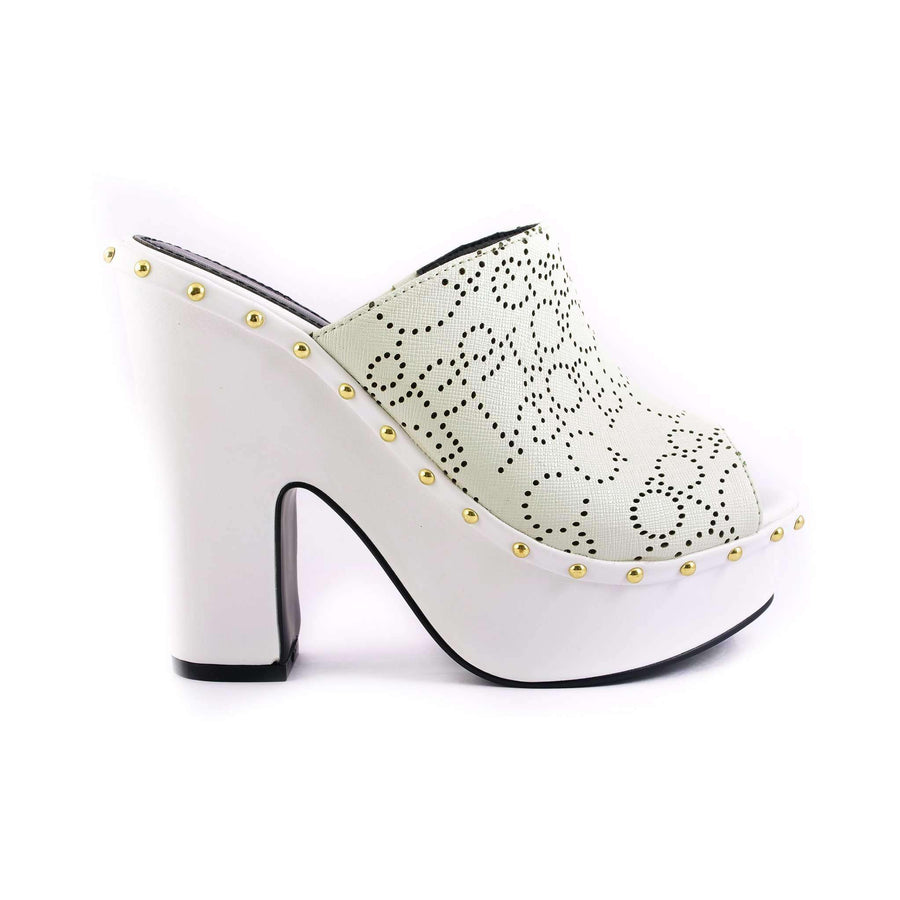 Embellished Laser Cut Sandals