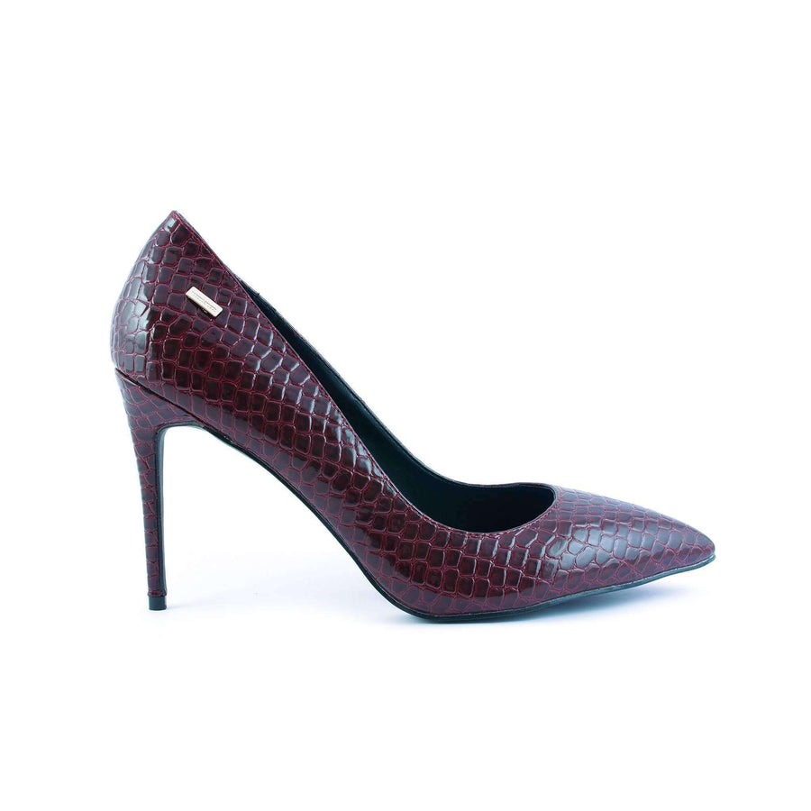 Crocodile Print Pumps