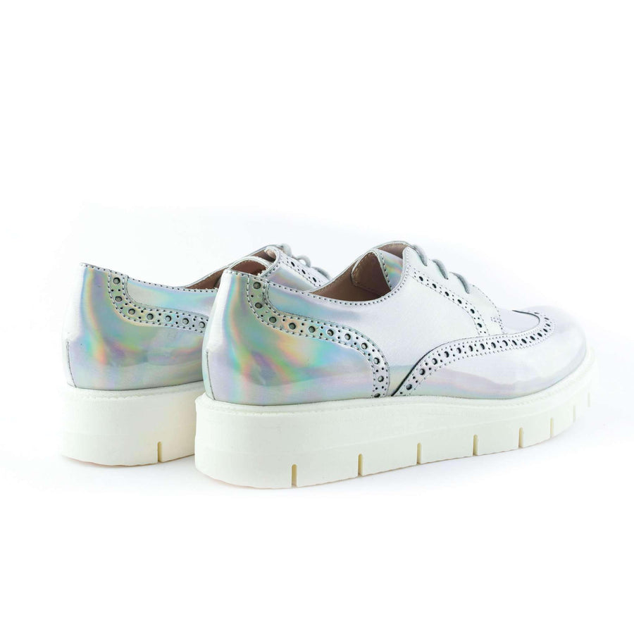 Iridescent Leather Loafers