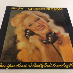 "Christopher Cross ‎ That Girl / Open Your Heart 1985 [W8834] 12"" Vinyl  Pop"