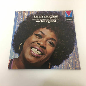 Jazz Sarah Vaughan ‎ Orchestra Arranged And Conducted By Michel Legrand 1973 Gat
