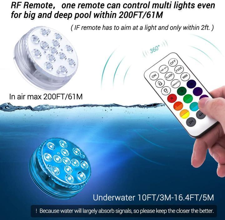 Submersible Remote LED Pool Lights -  UNIVERS TREND