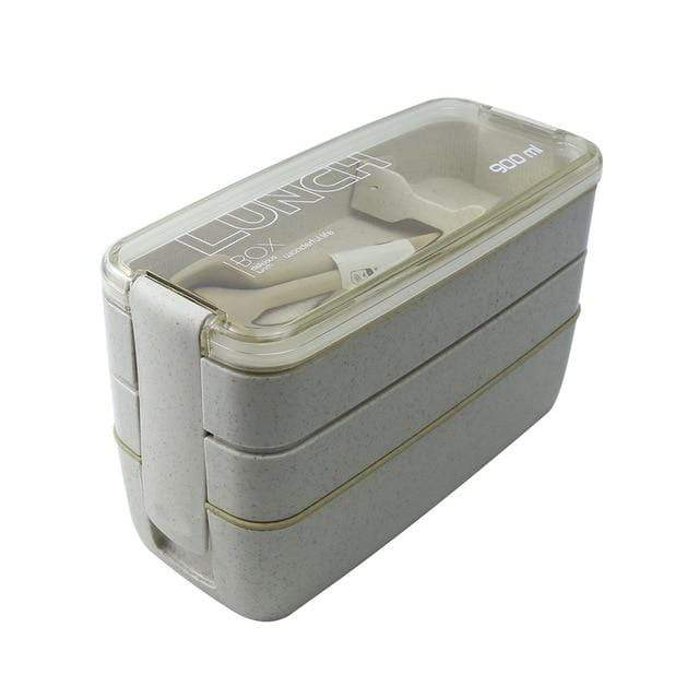 Layered Biodegradable Lunch Box - Microwave Safe