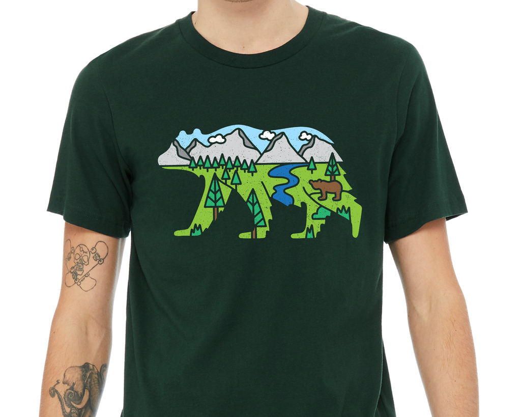 Bear With Scenery T-Shirt