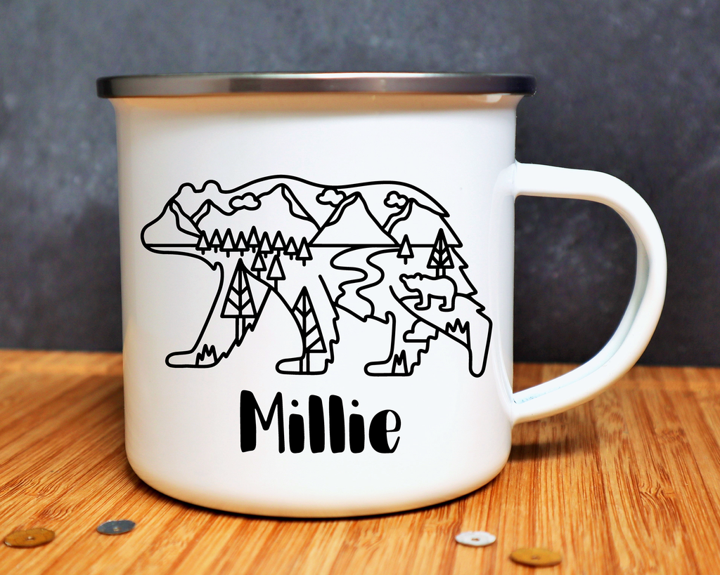 Bear With Scenery Personalised Mug or Bottle