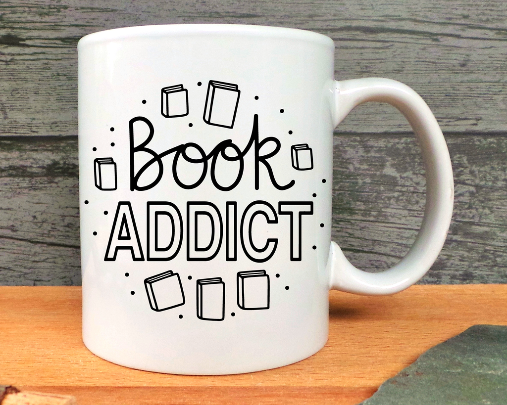 Book Addict Mug or Bottle