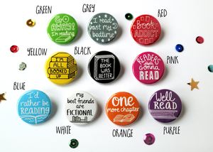 Book Themed Badges