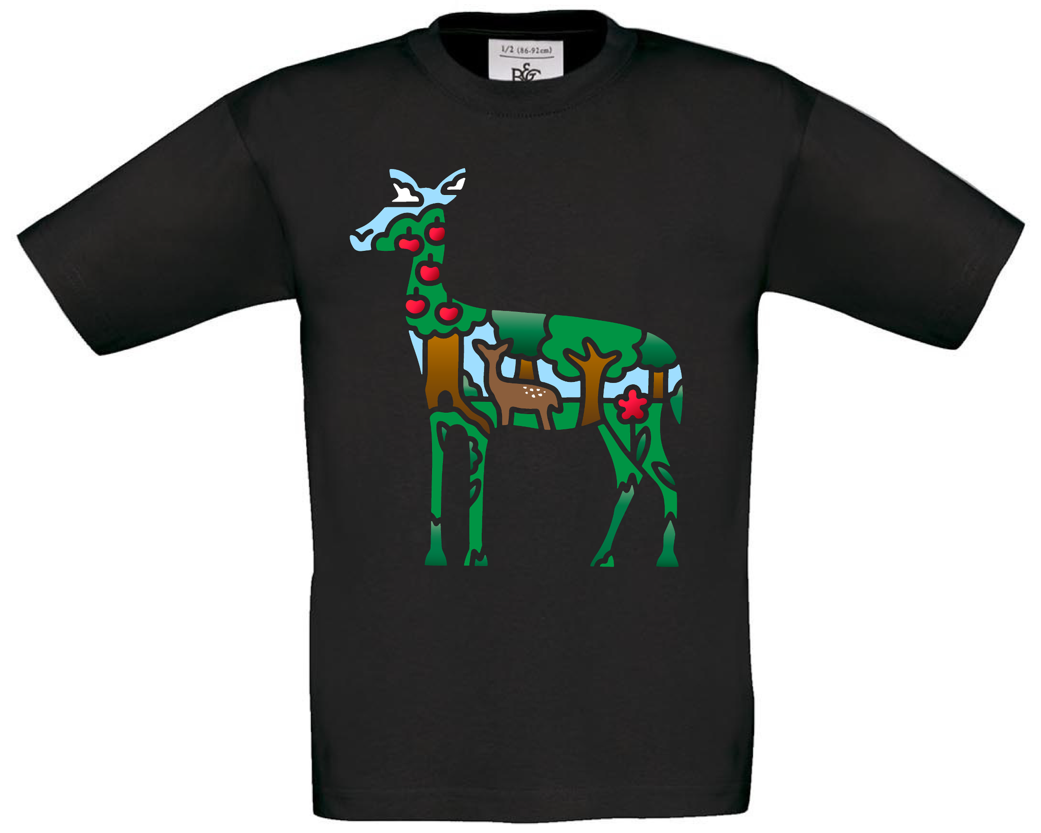 Deer With Forest Scenery T-Shirt