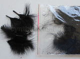 "1/4 oz Black  1-3"" Turkey Marabou Loose Feathers 50-70 Pieces"