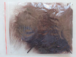 "1/4 oz Brown  1-3"" Turkey Marabou Loose Feathers 50-70 Pieces"