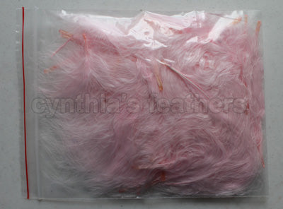 "1/4 oz Blush Pink  1-3"" Turkey Marabou Loose Feathers 50-70 Pieces"