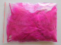 "1/4 oz Fuschia  1-3"" Turkey Marabou Loose Feathers 50-70 Pieces"