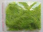 "1/4 oz Lime Green  1-3"" Turkey Marabou Loose Feathers 50-70 Pieces"