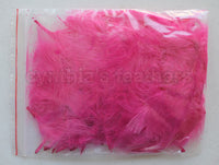 "Mauve Pink 1/4 oz Lime Green  1-3"" Turkey Marabou Loose Feathers 50-70 Pieces"