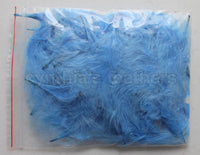 "1/4 oz Periwinkle  1-3"" Turkey Marabou Loose Feathers 50-70 Pieces"