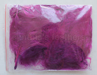 "1/4 oz Purple Plum 1-3"" Turkey Marabou Loose Feathers 50-70 Pieces"