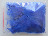 "1/4 oz Royal Blue  1-3"" Turkey Marabou Loose Feathers 50-70 Pieces"