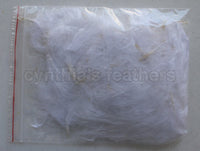 "1/4 oz White  1-3"" Turkey Marabou Loose Feathers 50-70 Pieces"