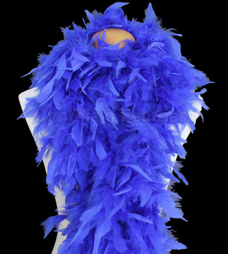 100 Grams Royal Blue Chandelle Feather Boa