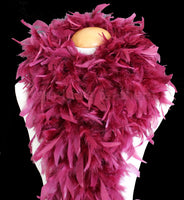 100 Grams Burgundy Chandelle Feather Boa