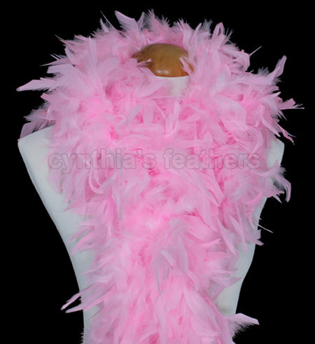 100 Grams Candy Pink Chandelle Feather Boa