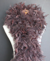 100 Grams Chocolate Brown Chandelle Feather Boa