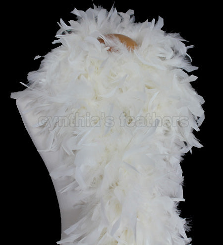 100 Grams Ivory Chandelle Feather Boa