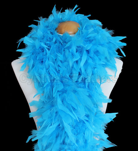 100 Grams Turquoise Chandelle Feather Boa