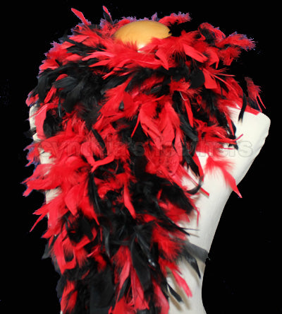 100 Grams Red/Black Mix Chandelle Feather Boa