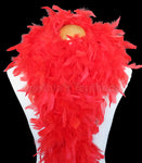 100 Grams Red Chandelle Feather Boa