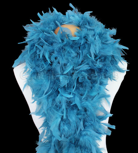 100 Grams Teal Chandelle Feather Boa