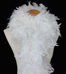 100 Grams White Chandelle Feather Boa