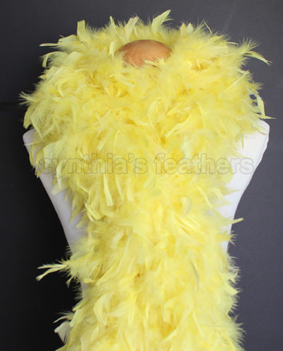 100 Grams Yellow Chandelle Feather Boa