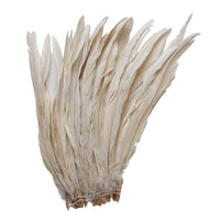 "25pcs 12-14"" Champagne Bleach-Dyed Rooster Coque Tail Feathers"