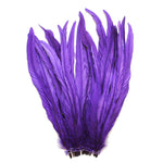 "25pcs 12-14"" Purple Bleach-Dyed Rooster Coque Tail Feathers"
