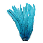 "25pcs 12-14"" Turquoise Bleach-Dyed Rooster Coque Tail Feathers"