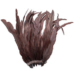 "25pcs 10-12"" Brown Bleach-Dyed Rooster Coque Tail Feathers"
