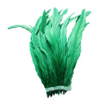 "25pcs 10-12"" Emerald Green Bleach-Dyed Rooster Coque Tail Feathers"