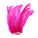 "25pcs 10-12"" Fuschia Bleach-Dyed Rooster Coque Tail Feathers"