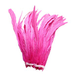 "25pcs 10-12"" Hot Pink Bleach-Dyed Rooster Coque Tail Feathers"