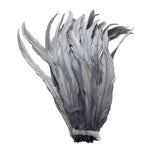 "25pcs 10-12"" Silver Gray Bleach-Dyed Rooster Coque Tail Feathers"