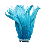 "25pcs 10-12"" Turquoise Bleach-Dyed Rooster Coque Tail Feathers"