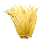 "25pcs 10-12"" Yellow Bleach-Dyed Rooster Coque Tail Feathers"